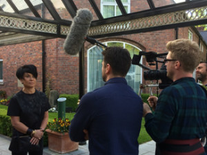 Filming for Channel 4's The Millionaire Party Planner