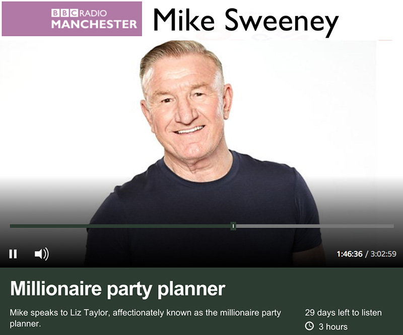 Liz chats to Mike Sweeney at BBC Radio Manchester about charity and celebrity
