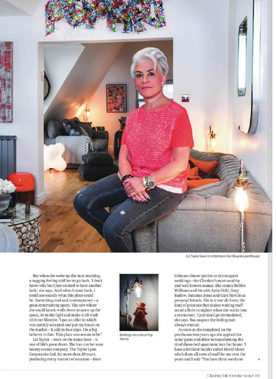 Cheshire Life October featuring Liz Taylor of the Taylor Lynn Corporation