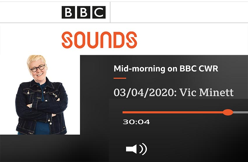 BBC Radio interview with Vic Minett