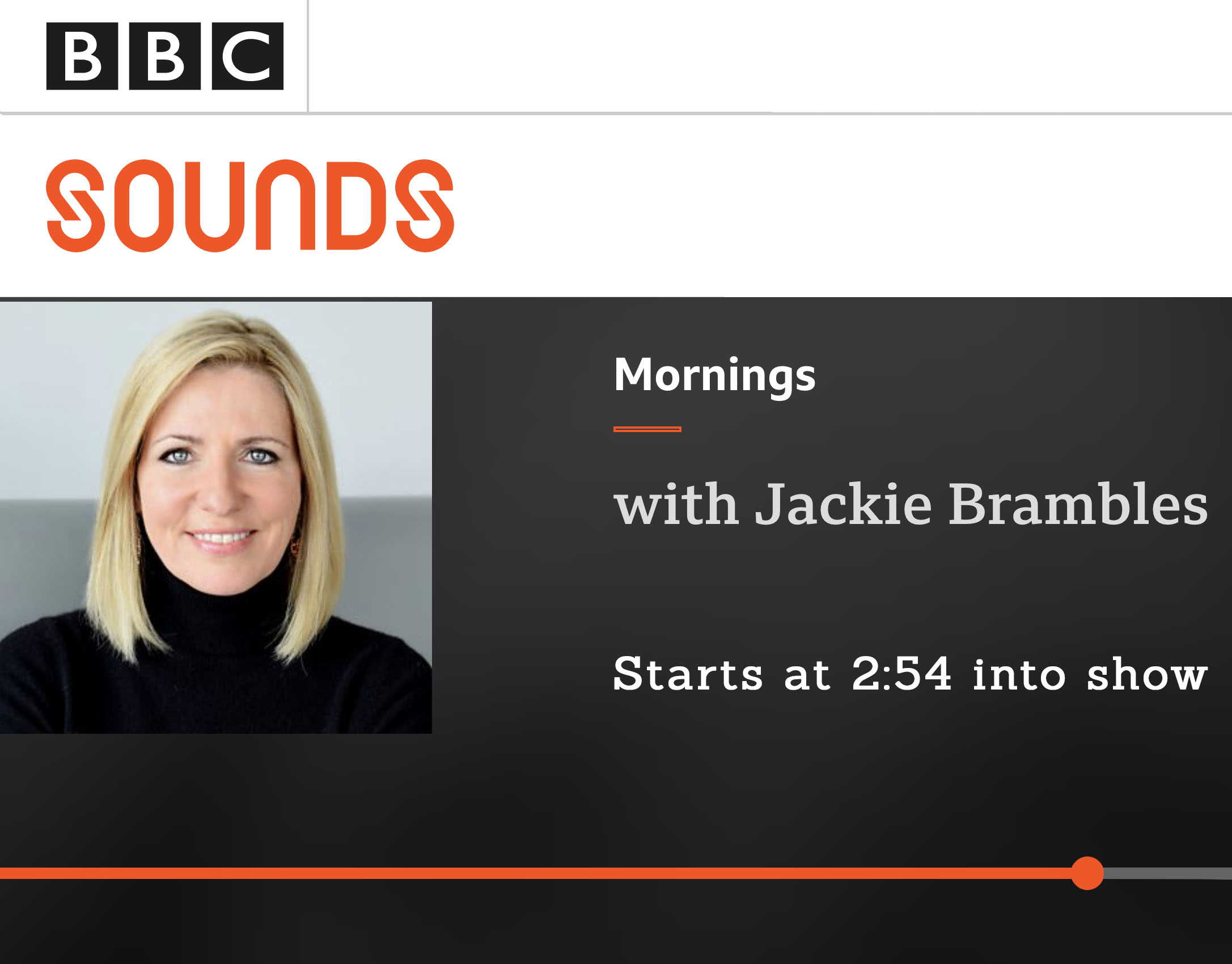 BBC Sounds Morning with Jackie Brambles